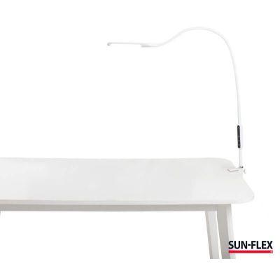 Valgusti SUN-FLEX DESKLITE, valge 102000, integreeritud LED 9W, 1500Lux, 2800-6500K, puutetundlik, pult, klamber