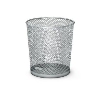 Paberikorv hõbe metall võrk, H=28cm D= 26x22cm, 13L, Erich Krause