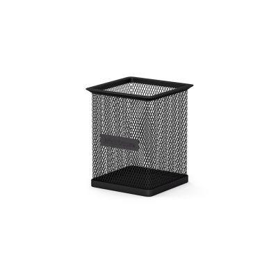 Pliiatsitops kandiline, must metall võrk (kõrgus 95mm x80x80) Erich Krause