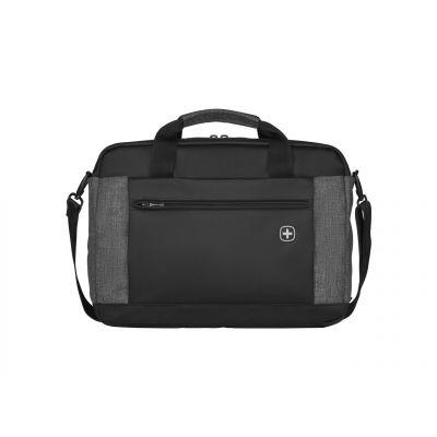 """Sülearvutikott Wenger Underground kuni 16"""", must/hall polyester, 9 x 43 x 31 cm, 800gr, tahvelarvuti tasku kuni 10'"""