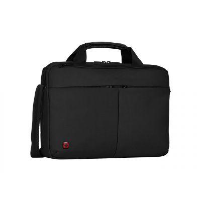 """Sülearvutikott Wenger Format kuni 14"""", must nylon, 8 x 39 x 26 cm, 700gr, tahvelarvuti tasku kuni 10'"""