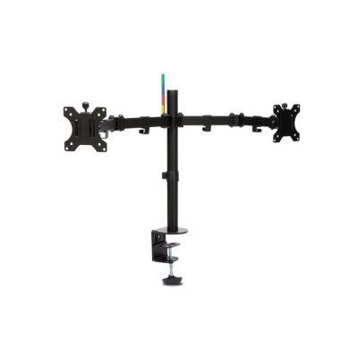 "Monitori lauakinnitus Kensington K55409WW must/black Dual Monitor Arm SmartFit Ergo (C-clamp and Grommet) VESA75/100 kuni 32"" 8kg"