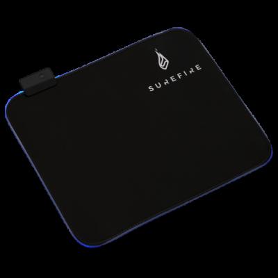 Hiirepadi SureFire Silent Flight RGB-320 Gaming Mouse Pad 32x26cm, 14 Adjustable RGB Light modes, 1.8m USB cable