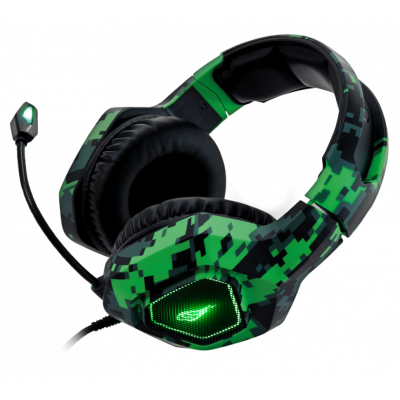 Kõrvaklapid mikrofoniga Surefire Skirmish Gaming Headset with USB-lighting, 4-pin cable and adapter 2x3.5mm mic plus headset