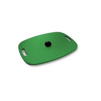 Tasakaalulaud aktiivseks seismiseks Stoo Active Board Green/Roheline (55cm x 40cm) massaažipalliga, kasutajale kuni 300kg