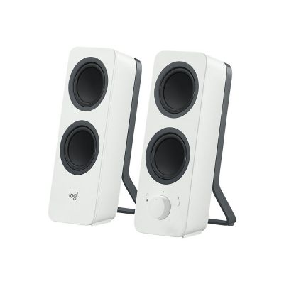 Kõlarid LOGITECH Z207 Bluetooth5.0 kuni 2-le seadmele - WHITE (valge) 5W RMS, 3.5mm stereo sisend