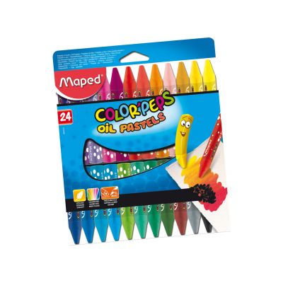 Õlipastell Color Peps 24 värvi, Maped