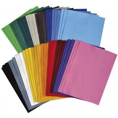 Käsitöövilt assortii, 2 mm, 20 x 30 cm, 25 värvi, 50 lehte