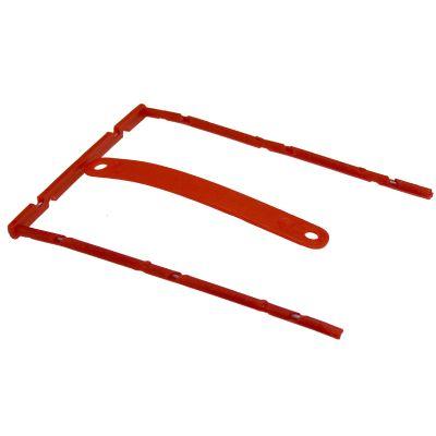 Arhiivikarbi klamber köitepiik D-Clip, punane B-binder 8cm metallklamber,100tk/pk