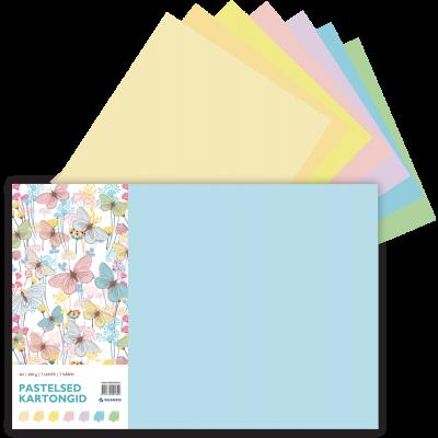 Värviline kartong A3 200g pastelsed toonid (7x7värvi)