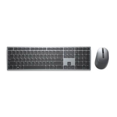 Klaviatuur+hiir Dell KM7321W Premier Multi-Device Wireless Keyboard and Mouse Estonian (QWERTY) Silver/Black, 2.4GHz/Bluetooth5.0, AA/2xAAA