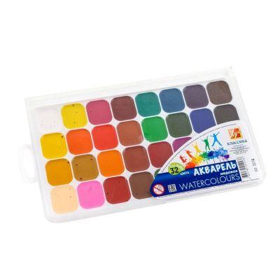 Akvarellvärvid 32 värvi plastkarbis, Luch