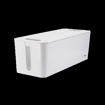 Karp pikendusjuhtmele Hama Maxi Cable Box L 40x15.6x13.5cm valge, kaanel laadimiskaablite avad