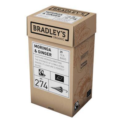 Roheline tee Bradley's Organic Moringa ingveriga 1,2g* 25tk/pk