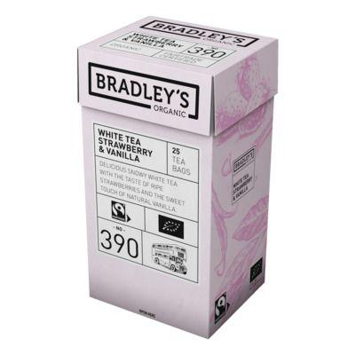 Valge tee Bradley's Organic maasika ja vanilliga 1,75g* 25tk/pk