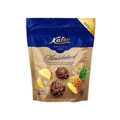 Piimashokolaadi ampsud sidruni- ananassi ja õhitud riisiga, 150g, Kalev