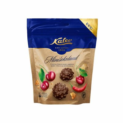Tumeda shokolaadi ampsud kirsi,tshilli ja küpsisega 150g, Kalev