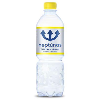 Mineraalvesi NEPTUNAS Lemon 0,5 (karboniseeritud, plast)