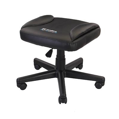 Arvutitooli jalatugi ratastel Sandberg Gaming Foot Stool, kõrgusreguleeritav, PU-nahk