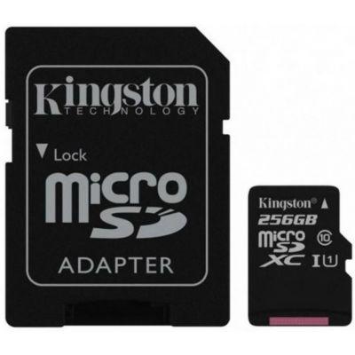 Mälukaart Secure Digital Kingston Canvas Select Plus 256GB microSDXC CLASS10  UHS-I + SD-adapter