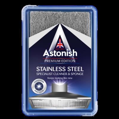 Roostevabast terasest pindade puhastamiskomplekt ASTONISH (pasta 250g+käsn)