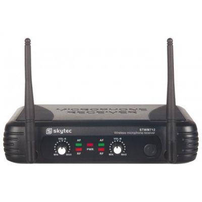 Juhtmevaba mikrofonisüsteem (VHF) kahe käsimikrofoniga, STWM712