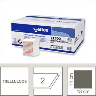 Tualettpaber lehtedes  Bulk Multi Comfort 2-kihiline 250 lehte/pk  (lehe mõõt 11x18cm)