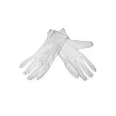 Töökindad riidest mikrokiudpunktidega valge nr. 8 (1  paar)