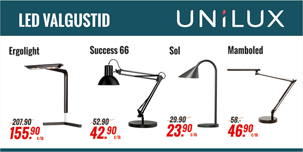 UNILUX LED VALGUSTID