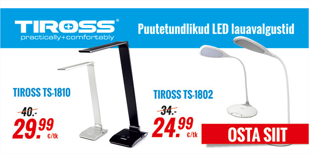 TIROSS puutetundlikud LED lauavalgustid