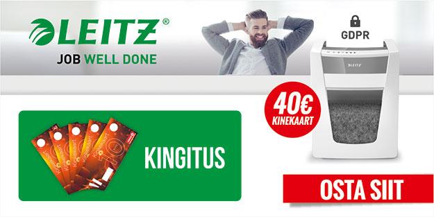 Leitz IQ paberipurustajate kampaania - kingituseks Circle K kinkekaardid!