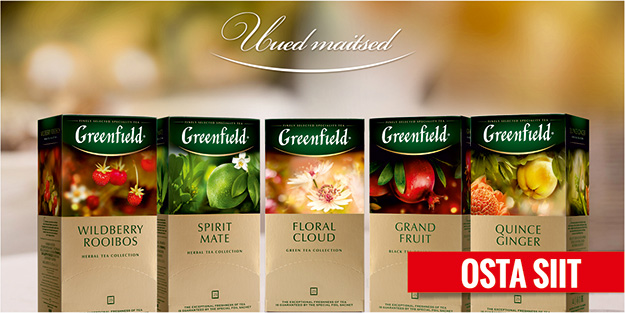 GREENFELDI TEED – UUED MAITSED!