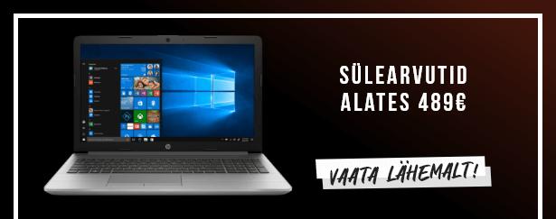Sülearvutid alates 489€
