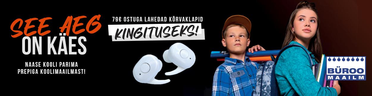 See aeg on käes. Naase kooli parima prepiga koolimaailmast! 79€ ostuga lahedad kõrvaklapid kingituseks!